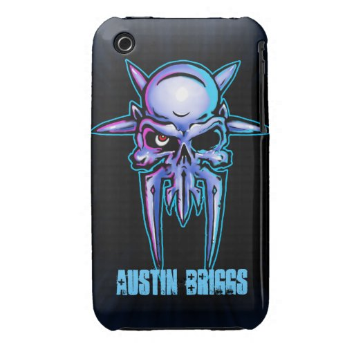 Spiked Metal Skull design Case-Mate iPhone 3 Case