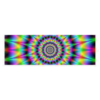Spiked Psychedelic Rings Card Pack Of Skinny Business Cards