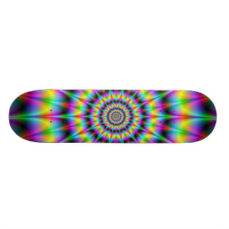 Spiked Psychedelic Rings Skateboard