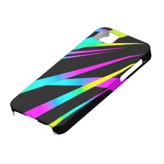 Spikes CYMK black iPhone 5 Cover