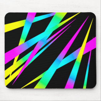 Spikes CYMK black Mouse Pad