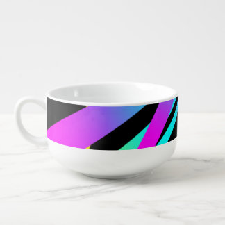 Spikes CYMK black Soup Mug