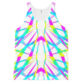 Spikes CYMK white All-Over Print Tank Top