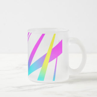 Spikes CYMK white Frosted Glass Coffee Mug