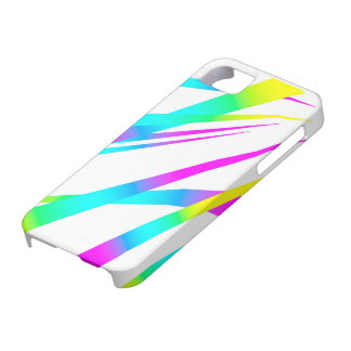 Spikes CYMK white iPhone 5 Cover