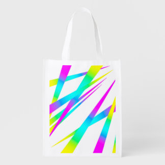Spikes CYMK white Reusable Grocery Bag