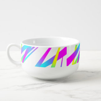 Spikes CYMK white Soup Mug