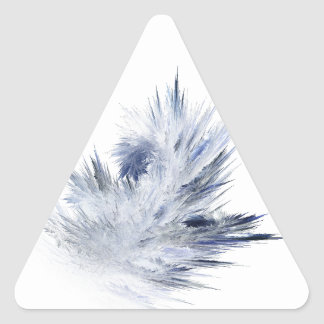 Spikes of Frost Triangle Sticker