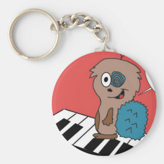 Spikes the hedgehog basic round button key ring
