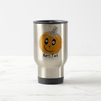 spikeyjacklantern, Happy Jack Stainless Steel Travel Mug
