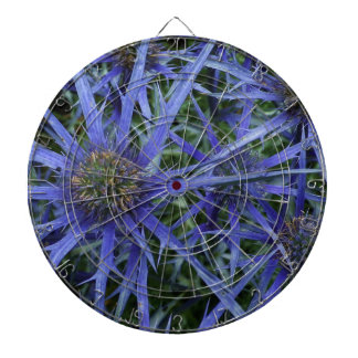 SPIKY BLUE SEA HOLLY FLOWER Dart Board