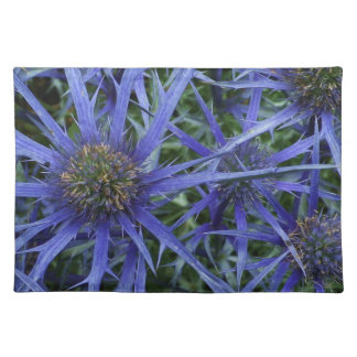 SPIKY BLUE SEA HOLLY FLOWER Place Mat