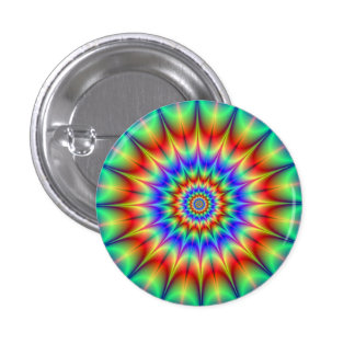 Spiky Psychedelic Rings Button