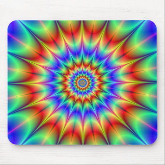 Spiky Psychedelic Rings Mousepad