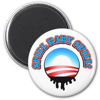 Spill Baby Spill Obama 6 Cm Round Magnet