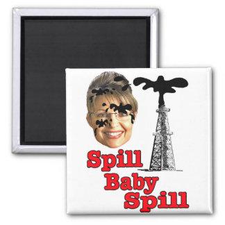 spill baby spill... square magnet