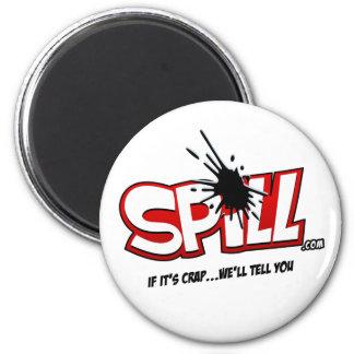Spill Logo Button 6 Cm Round Magnet