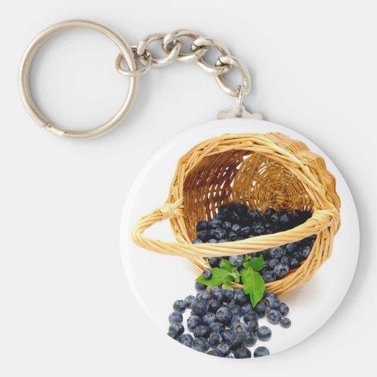 Spilled Blueberries Key Ring
