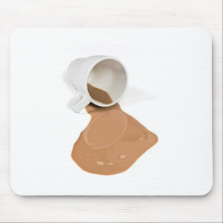 Spilled chocolate milk mousepad