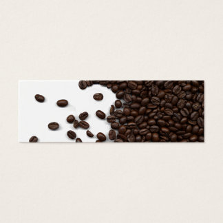 Spilled Coffee Beans Mini Business Card