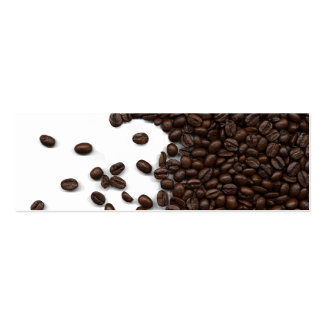 Spilled Coffee Beans Pack Of Skinny Business Cards