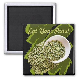 Spilled, Dried Green Pea Photograph Square Magnet