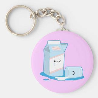Spilled Milk Basic Round Button Key Ring