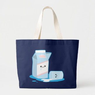 Spilled Milk Large Tote Bag