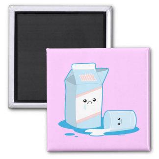 Spilled Milk Square Magnet