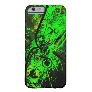 spilled radioactive green color abstract art barely there iPhone 6 case