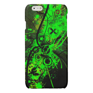 spilled radioactive green color abstract art iPhone 6 plus case
