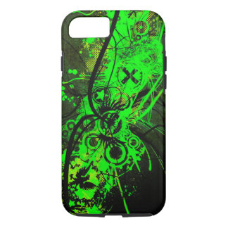 spilled radioactive green color abstract art iPhone 7 case