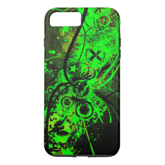 spilled radioactive green color abstract art iPhone 7 plus case