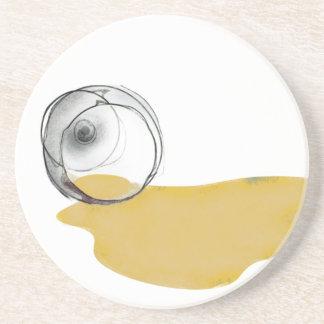 spilled white wine glass drinks coaster