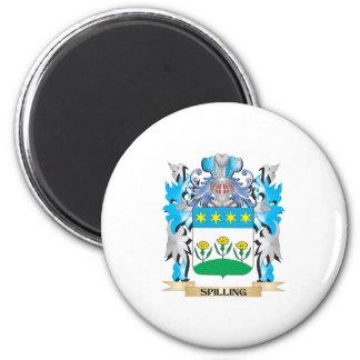 Spilling Coat of Arms - Family Crest Fridge Magnets