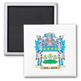 Spillings Coat of Arms - Family Crest Refrigerator Magnet