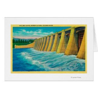 Spillway Gates on Bonneville Dam Greeting Cards