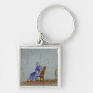 Spilt Milk, c.1828 Silver-Colored Square Key Ring
