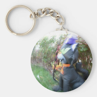 Spin Cat Basic Round Button Key Ring