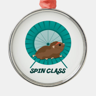 Spin Class Silver-Colored Round Decoration