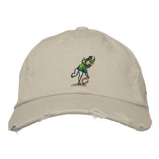 Spin Doctor Embroidered Distressed Cap Embroidered Baseball Cap
