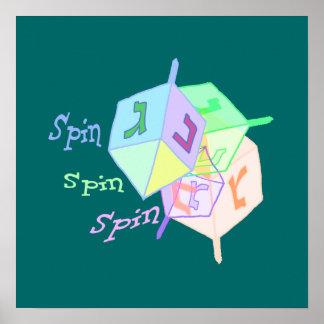 Spin Spin Dreidels Poster