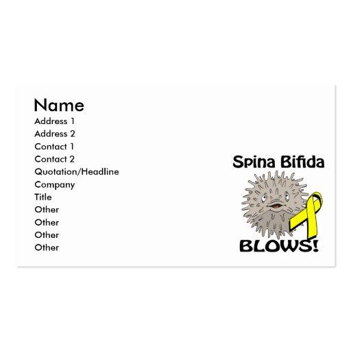 Spina Bifida Blows Awareness Design Business Card Template