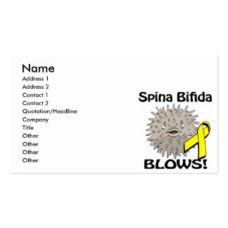 Spina Bifida Blows Awareness Design Pack Of Standard Business Cards