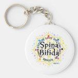 Spina Bifida Lotus Basic Round Button Key Ring