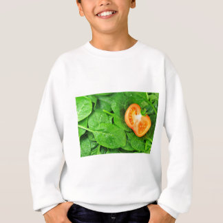 Spinach background sweatshirt
