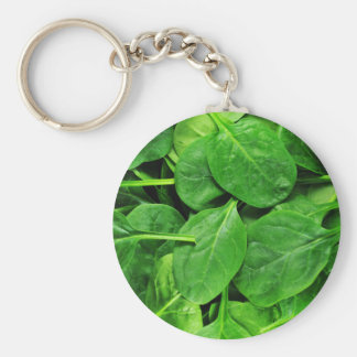 Spinach Basic Round Button Key Ring