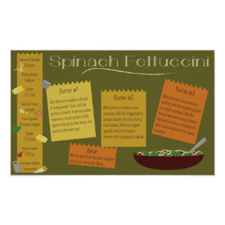 Spinach Fettuccini Poster