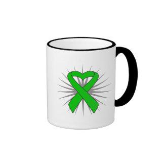 Spinal Cord Injury Awareness Heart Ribbon Coffee Mugs