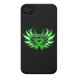 Spinal Cord Injury Awareness Heart Wings iPhone 4 Cases